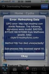 cydia1 Cydia   Problème de repo ModMyI résolu