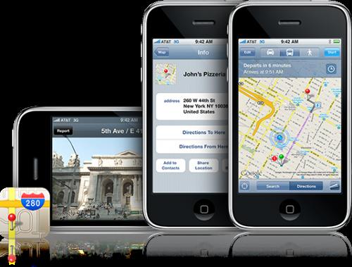 googlemap News   Google va offrir une application de nagivation GPS aux iPhone