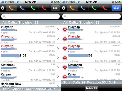 i3 Cydia   iLog Manager Elite : Gérez facilement votre liste dappels