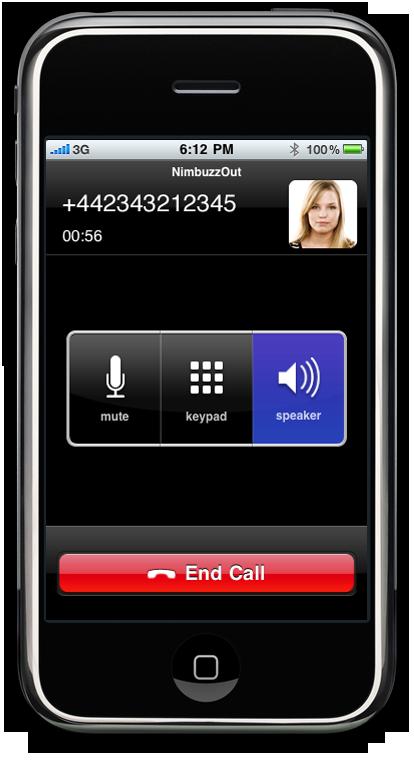iPhone 1 1.6 Call News   Nimbuzz passe en version 1.6