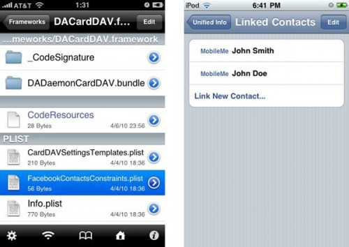 img11 Firmware 4.0   Intégration de Facebook sur liPhone OS 4.0
