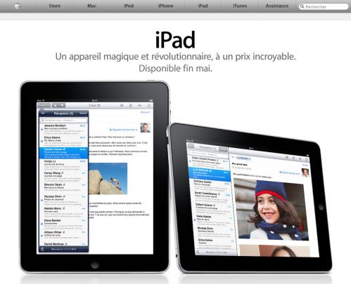 ipad 499x405 iPad   Sortie de liPad en France annoncée pour la fin Mai
