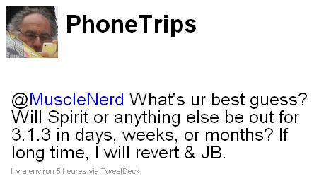 phonetrips Jailbreak News   MuscleNerd laisse entendre un Jailbreak 3.1.3 lors de la sortie de liPad 3G