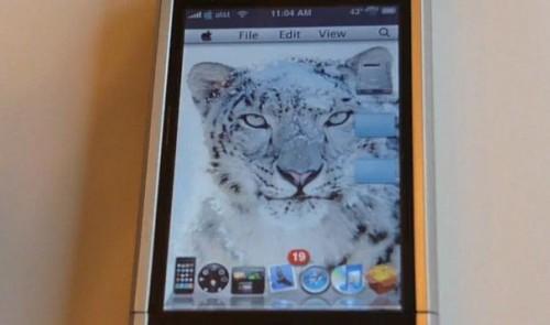 snowleopard Thèmes   Snow Leopard PerfetiOSXn pour iPhone et iPod Touch