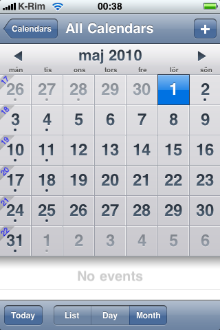 weekincalendar1 Cydia   WeekInCal 1.1 : Disponible sur la repo iPhone3GSystem