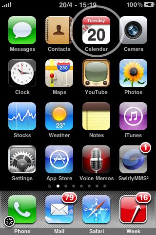 weekincalendar2 Cydia   WeekInCal 1.1 : Disponible sur la repo iPhone3GSystem