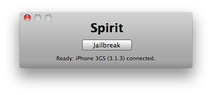 2 Tutoriel   Jailbreak 3.1.3 avec Spirit de Comex pour iPhone / iPod Touch / iPad [MAC]