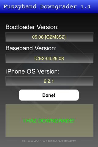 3gfuzzyband4 Jailbreak  Fuzzyband : Downgradez votre baseband