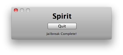 4 Tutoriel   Jailbreak 3.1.3 avec Spirit de Comex pour iPhone / iPod Touch / iPad [MAC]