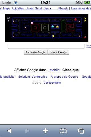 IMG 00441 News   Jouer à PacMan sur votre iPhone via Google [EDIT]
