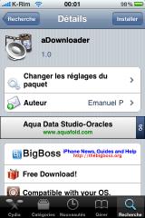 IMG 1019 160x240 Cydia   aDownloader : Gestionnaire de téléchargement complet
