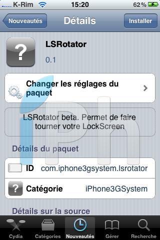 IMG 10231 Cydia   LockScreen Rotator enfin disponible en bêta [EDIT]