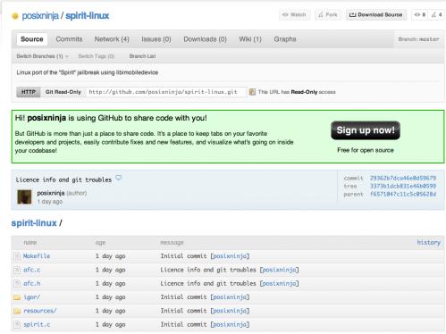 Screen 2010 05 23 à 10.53.07 499x374 Jailbreak   PosixNinja publie le code source de Spirit pour Linux