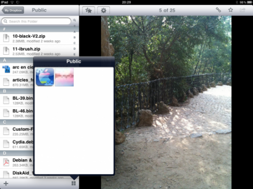 Vignettage 550x412 500x374 AppStore   DropBox disponible pour iPad
