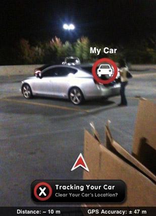carfinder inline AppStore   Augmented Car Finder : Retrouver votre voiture à laide de la réalité augmentée