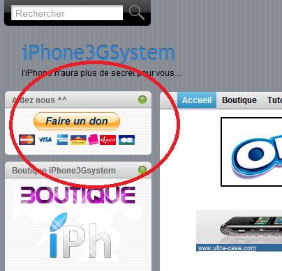 don News   iPhone3GSystem a besoin de vous pour payer le serveur dédié