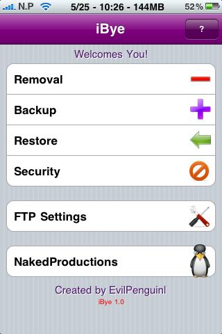 iBye Cydia   iBye : Faites une sauvegarde de votre iPhone via un serveur FTP
