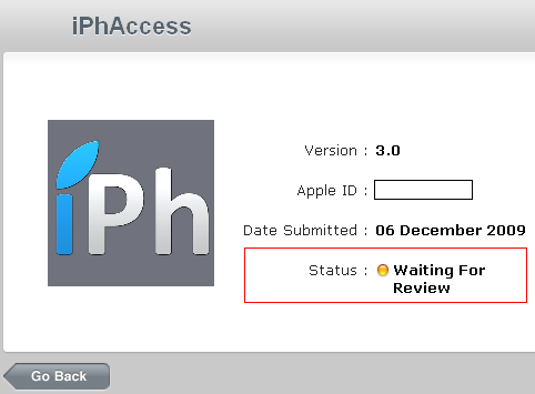 iPhAccessWaitingForReview AppStore   iPhAccess 3.0 en statut : Waiting For Review