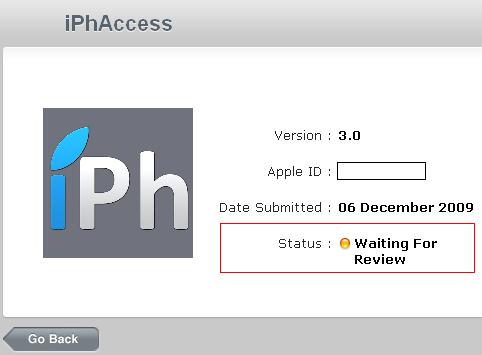 iPhAccessWaitingForReview AppStore   iPhAccess 3.0 en statut : Waiting For Review