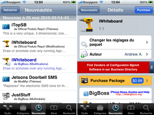 iWhiteBoard Cydia   iWhiteBoard : Ecrivez avec le doigt sur la SpringBoard