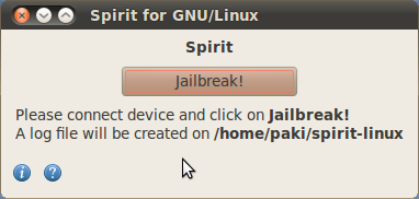 screenshot spirit Jailbreak   Spirit disponible pour Linux