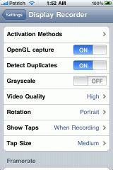screenshot11 160x240 Cydia   Display Recorder : Enregistrer lécran de liPhone
