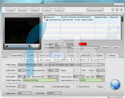 14 News   WinX HD Converter : Convertir des vidéos au format iPhone / iPad