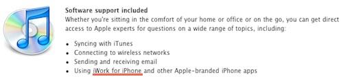 164913 iwork iphone applecare Rumeur   iWork bientôt pour iPhone ?