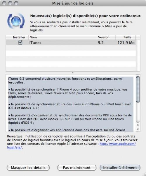 55249 6 itunes 9 2 a telecharger 500x605 News   iTunes 9.2 est disponible au téléchargement [EDIT]