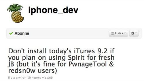 55258 119 itunes 9 2 bloque le jailbreak spirit News   Rappel : iTunes 9.2 bloque le jailbreak Spirit