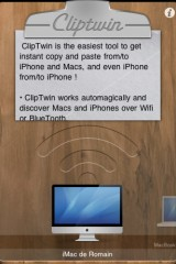 960504 2 160x240 AppStore   ClipTwin Copy & Paste HD, ou comment faire du copier coller entre appareils