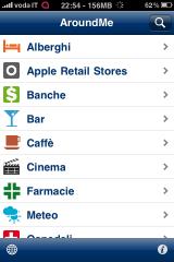 Am img1 AppStore   Mise à jour de AroundMe : compatible iOS 4