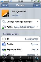Backgrounder 160x240 Cydia   Mise à jour de Backgrounder svn.r492
