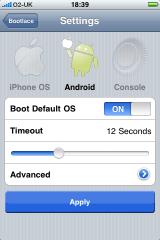 Bootlace 1.0 Settings 160x240 Cydia   BootLace : un soft pour gérer la façon dont marche OpeniBoot