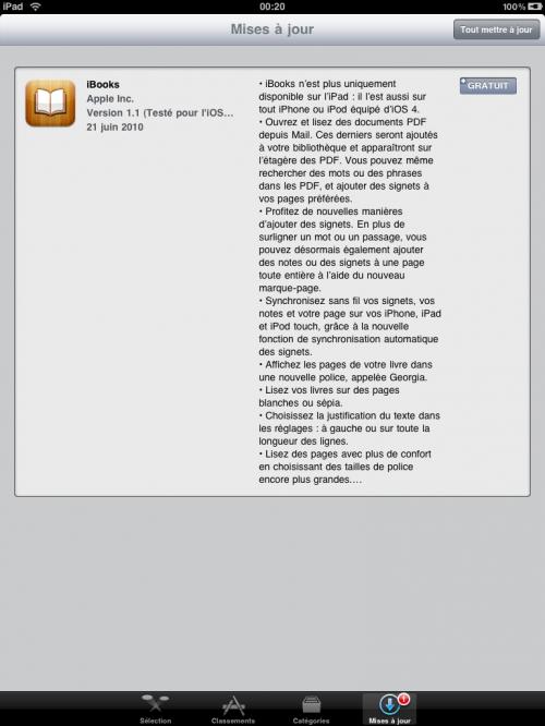 IMG 0020 500x666 iPad – Mise à jour de iBooks en version 1.1