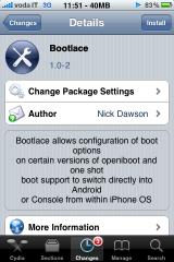 IMG 0574 160x240 Cydia   BootLace : un soft pour gérer la façon dont marche OpeniBoot