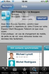 IMG 2025 160x240 AppStore   Espace Sync : Synchroniser vos contacts iPhone avec Bouygues