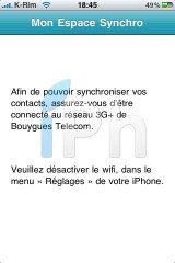 IMG 2026 160x240 AppStore   Espace Sync : Synchroniser vos contacts iPhone avec Bouygues