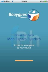 IMG 2027 160x240 AppStore   Espace Sync : Synchroniser vos contacts iPhone avec Bouygues
