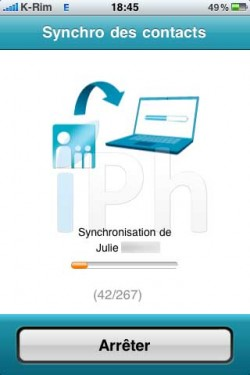 IMG 20321 250x375 AppStore   Espace Sync : Synchroniser vos contacts iPhone avec Bouygues