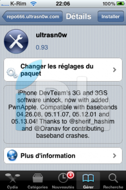 IMG 20361 250x375 Tutoriel   JailbreakMe iOS 4 iPhone 3G / 3GS / 4 iPod Touch 2G / 3G et iPad 3.2 / 3.2.1 par Comex [VIDEO][MAJ]