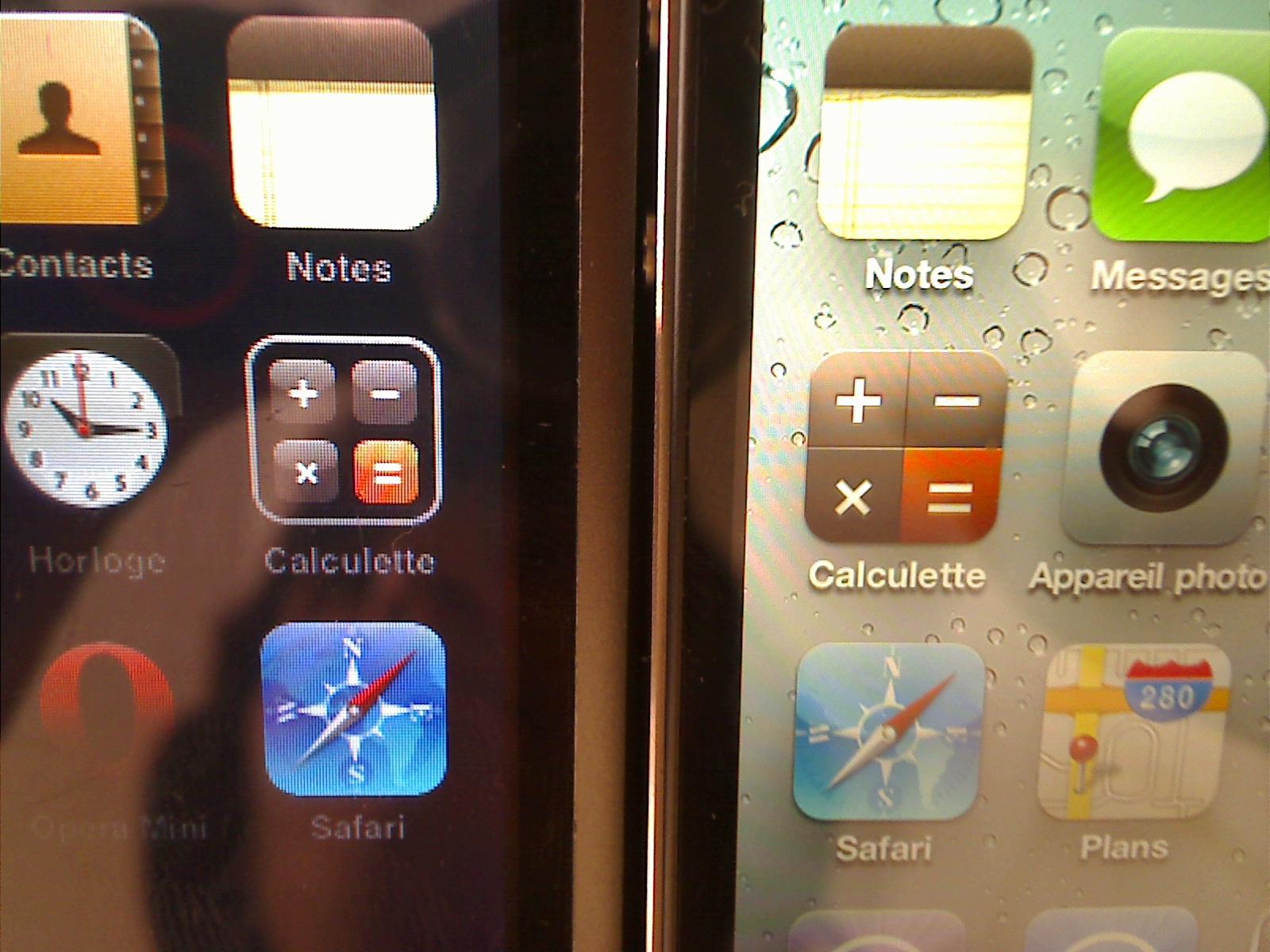 Picture 5 News   Comparaison écran entre un iPhone 4 et un iPod Touch