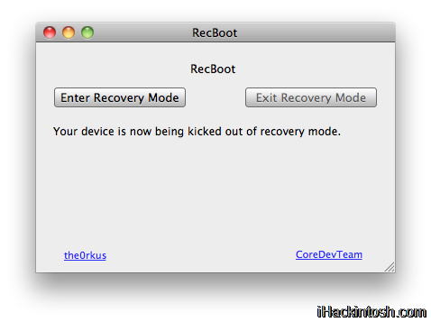 RecBoot1 Tutoriel   Downgrade iPhone 3G/3GS FW iOS 4.0 en FW 3.1.3