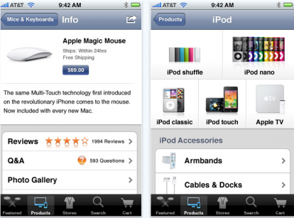 Schermata 2010 06 15 a 14.15.50 414x307 News   Apple publie une application AppleStore sur le store US