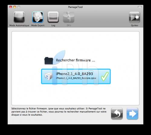 Screen 2010 06 08 à 19.57.28 500x446 Tutoriel   Jailbreak de liPhone 3GS en 4.0.2 avec PwnageTool [Mac]