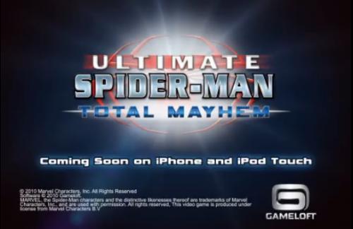 Screen shot 2010 06 16 at 8.29.14 PM 500x324 Jeux   Gameloft présente le trailer de Spider Man [Vidéo]
