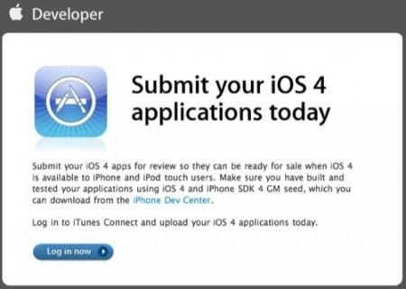 Submission ios4 News   Les développeurs peuvent désormais soumettre leurs applications pour lOS 4 !