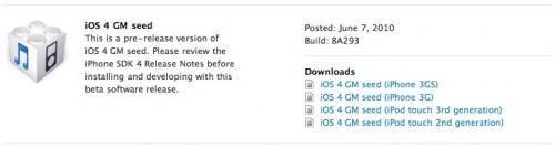 firm4 Firmware 4.0   liPhone OS 4 Gold Master disponible pour les développeurs [MAJ]