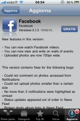 foto 24 160x240 AppStore   Mise à jour de FaceBook en version 3.1.3