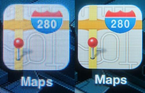 iconcompare 500x321 News   Un dernier comparatif entre lécran de liPhone 3GS et lécran Retina